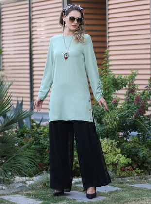 Mint - Crew neck -  - Tunic