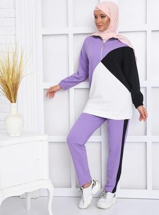 Lilac - Black -  - Suit