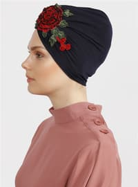 Red - Navy Blue - Plain - Simple - Bonnet
