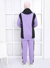 Lilac - Black -  - Tracksuit Set