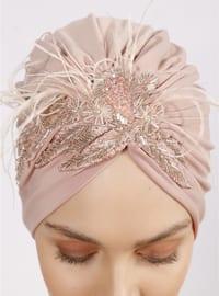 Beige - Plain - Simple - Bonnet