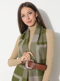Green - Printed - Viscose - Shawl