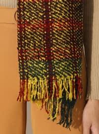 Yellow - Printed - Acrylic - Shawl