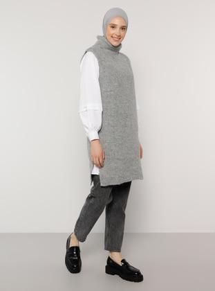 Silver tone - Polo neck - Tunic