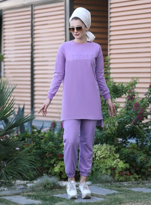 Purple - Unlined -  - Suit