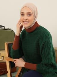 Emerald - Crew neck - Unlined - Knit Tunics