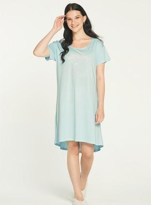 - Crew neck - Blue - Kids Nightgowns
