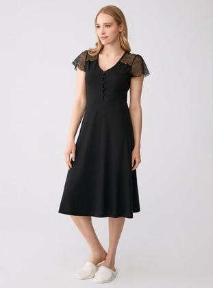 Modal -  - Crew neck - Black - Kids Nightgowns