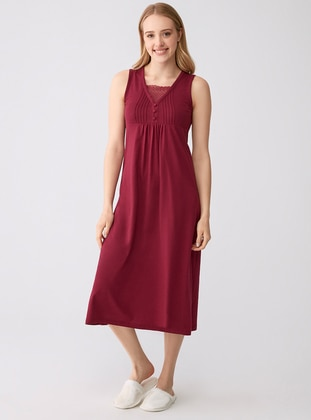 Modal -  - V neck Collar - Cherry - Kids Nightgowns