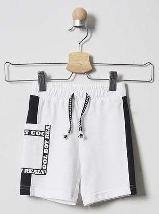 Multi - - Unlined - White - Baby Shorts