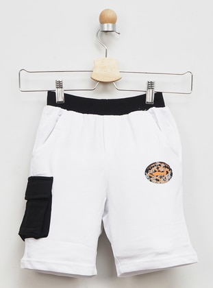 - Unlined - White - Boys` Shorts - Panço
