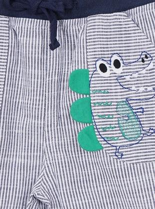 Stripe - - Unlined - Navy Blue - Baby Shorts