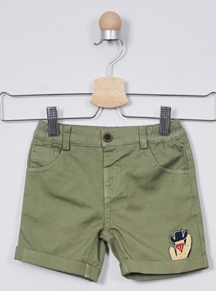 - Unlined - Green - Baby Shorts - Panço