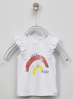 White - Unlined - - Crew neck - Multi - Baby Underwear - Panço