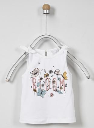 Ecru - Unlined - - Crew neck - Multi - Baby Underwear