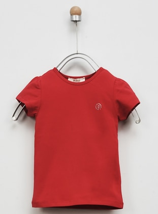 - Red - Girls` Tops