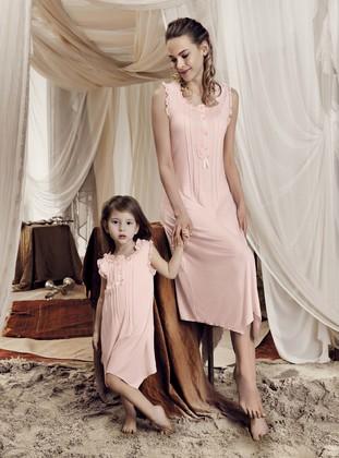 - Viscose - Salmon - Girls` Pyjamas