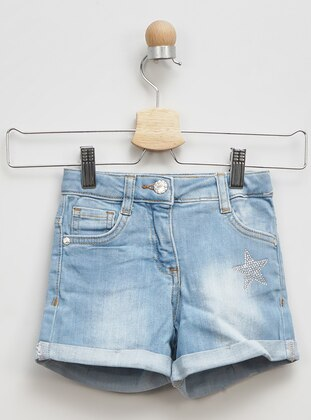 - Blue - Girls` Shorts
