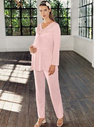 Powder -  - Viscose - Maternity Pyjamas