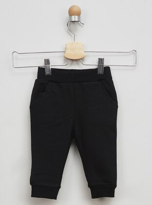 Cotton - Black - Baby Sweatpants - Panço