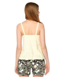 Yellow -  - Short Set - DAGİ