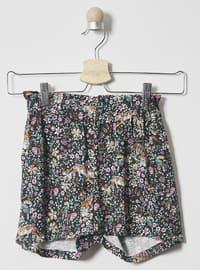 Multi - Unlined - Black - Girls` Shorts