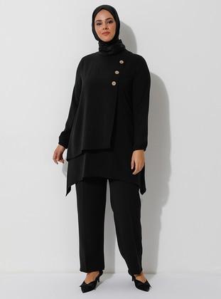 Black - Unlined - Suit - Ferace