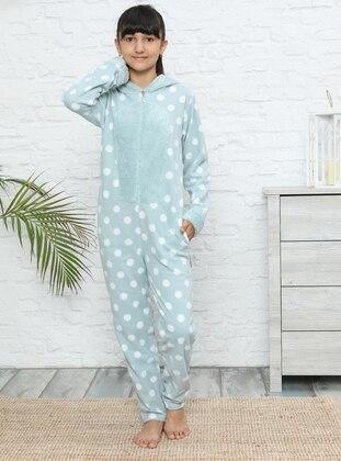 Multi - Unlined - Mint - Girls` Pyjamas - Akbeniz Kids