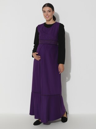 Crew neck - Unlined - Maternity Dress