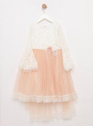 Crew neck - Powder - Girls` Dress