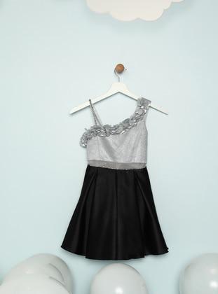 Silver tone - Black - Girls` Dress