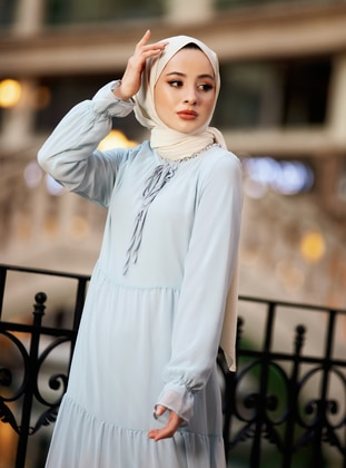 Cream - Plain - Viscose - Shawl - Şal Evi