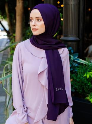 Purple - Plain - Viscose - Shawl - Şal Evi