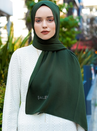 Green - Plain - Viscose - Shawl - Şal Evi