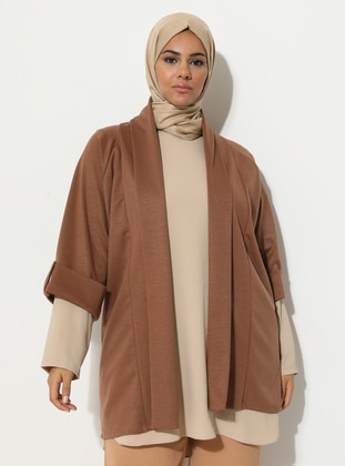 Tan - Unlined - Plus Size Jacket