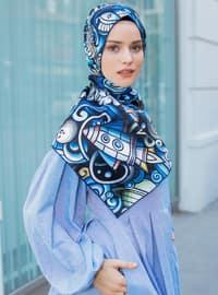 Multi - Printed - Twill - Scarf - Şal Evi
