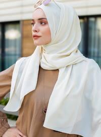 Cream - Plain - Viscose - Shawl - Şal Evi