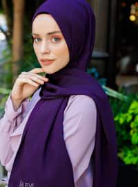 Purple - Plain - Viscose - Shawl - Şal Evi