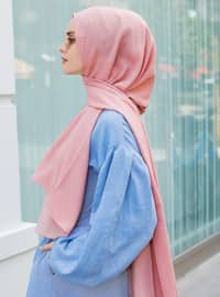 Pink - Powder - Plain - Viscose - Shawl - Şal Evi