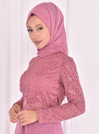 Fully Lined - Dusty Rose - Crew neck - Evening Suit