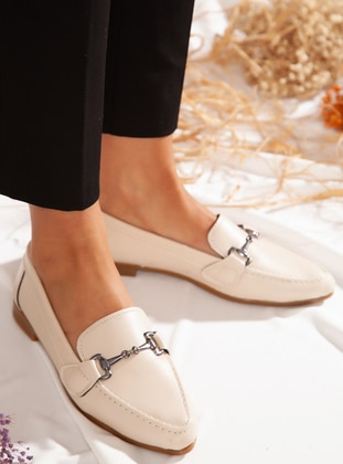 Flat - Casual - Cream - Casual Shoes