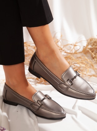 Flat - Casual - Silver - Casual Shoes