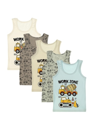 Multi - Crew neck -  - Unlined - Multi - Kids Underwear - Donella