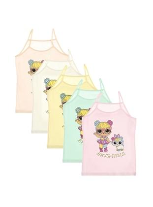 Multi - Crew neck - - Unlined - Multi - Girls` Underwear - Donella