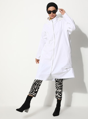 White - Fully Lined - Trench Coat