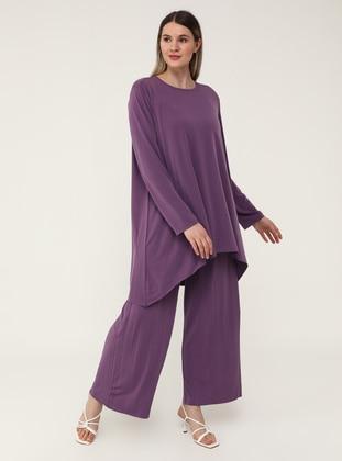 Oversize Tunic&Trousers Set - Mystic Purple - Alia