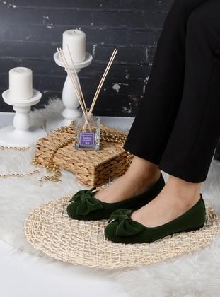 Flat - Khaki - Home Shoes