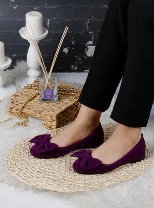 Flat - Purple - Home Shoes