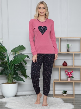 Rose - Crew neck -  - Pyjama Set