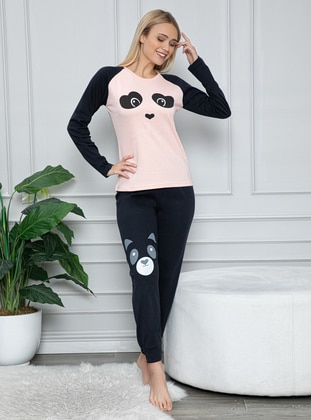 Salmon - Crew neck -  - Pyjama Set